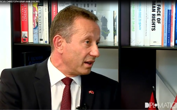 Swiss Ambassador in Albania Christoph Graf during the interview with News24