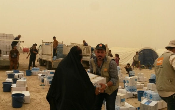 Aid distribution, 16 June 2016, Norwegian Refugee Council