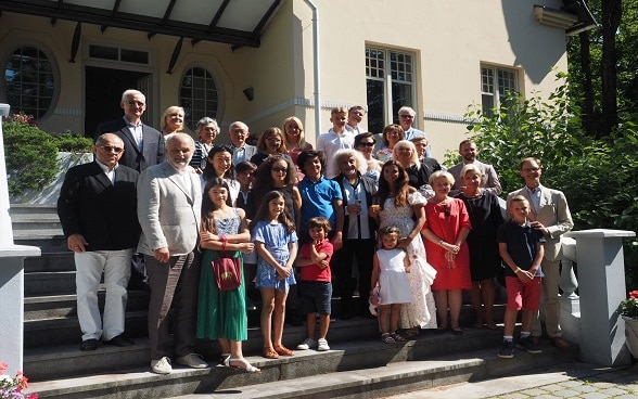 visit of misha maisky at the swiss residence in riga