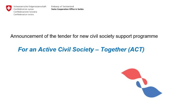 For an Active Civil Society - Together: Tender announcement