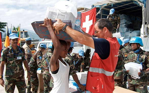 Swiss Humanitarian Aid after an earthquake in Haiti in 2010
