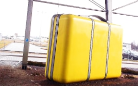 Yellow suitcase
