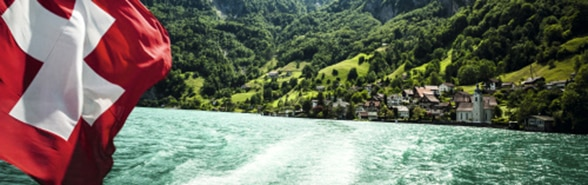View of a part of the Lake of Lucerne taken from a steamer