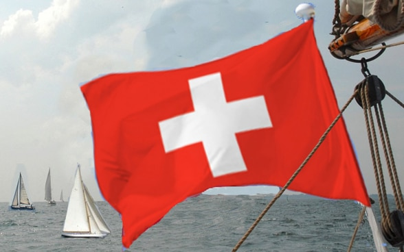 Flag of a Swiss yacht