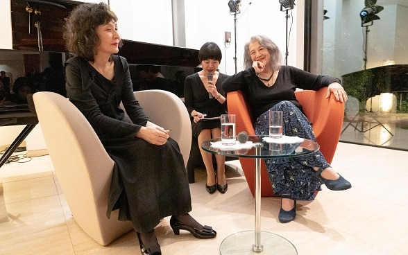 Martha Argerich and Kyoko Ito talk about their Pinocchio Concert project ⒸRikimaru Hotta
