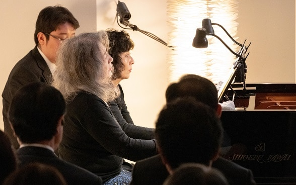 Martha Argerich and Kyoko Ito give a four hands performance  ⒸRikimaru Hotta