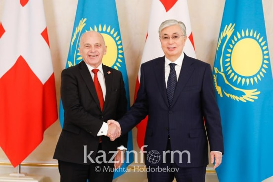 Visit of the Swiss President in Kazakhstan