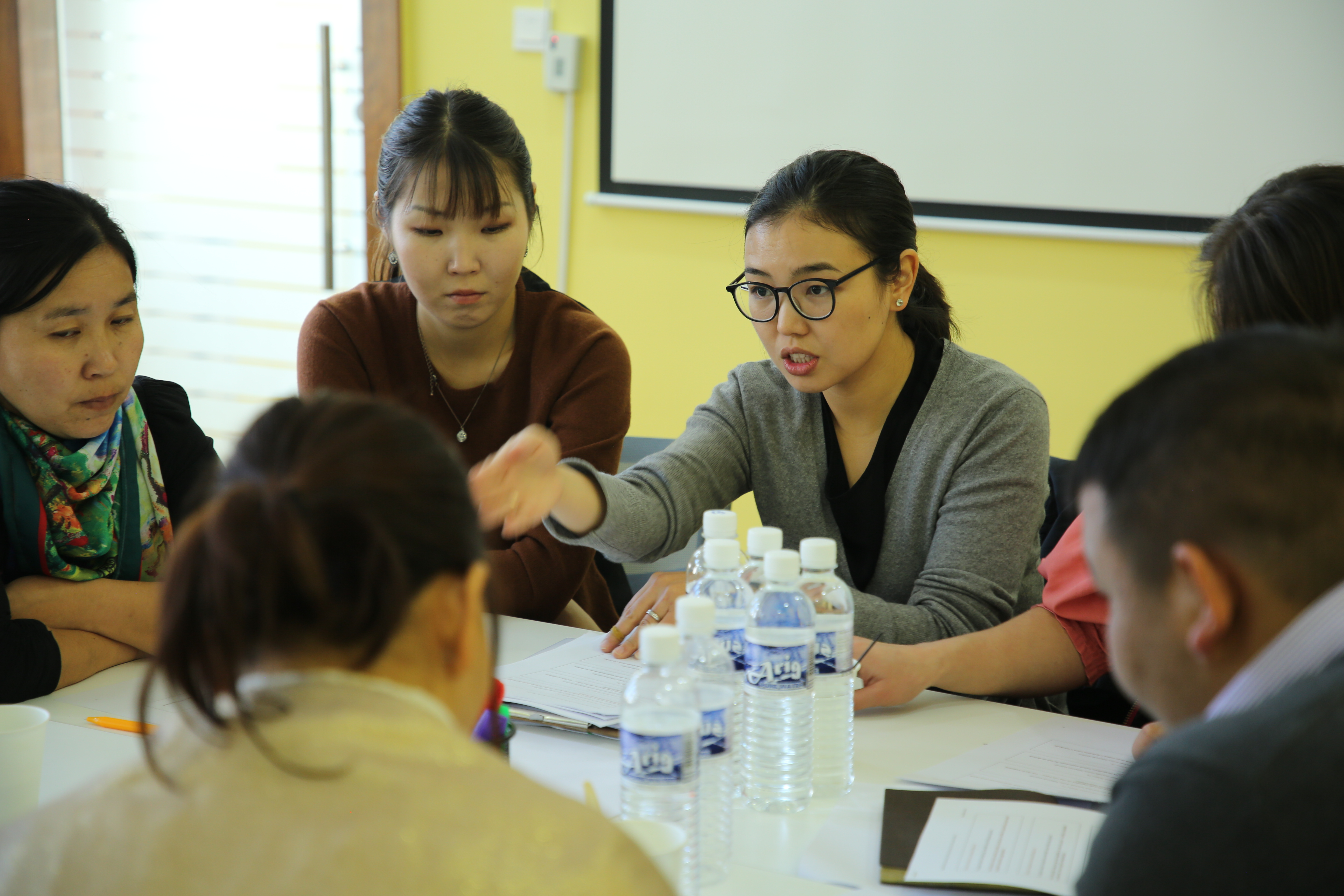 "Khoroo organizers participate in ""Citizen-centered civil service"" training organized by the Municipality of Ulaanbaatar Training Center established in 2017."