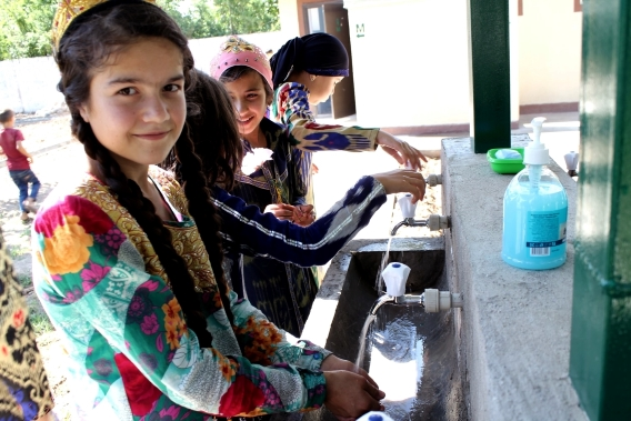 Schoolchildren of Rudaki district have an access to safe drinking water now