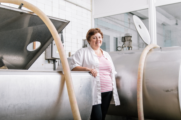 "Valentyna Panasiuk, Director of the milk collection point ""Prushanka"", Kozyatyn district, Vinnytsia region, Ukraine"