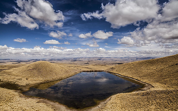 A reservoir in the Peruvian highlands.